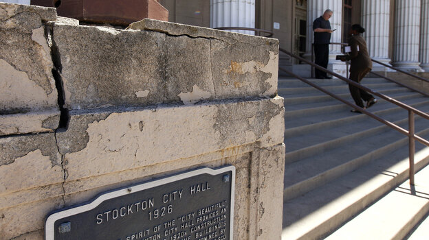 A judge accepted the California city of Stockton's
