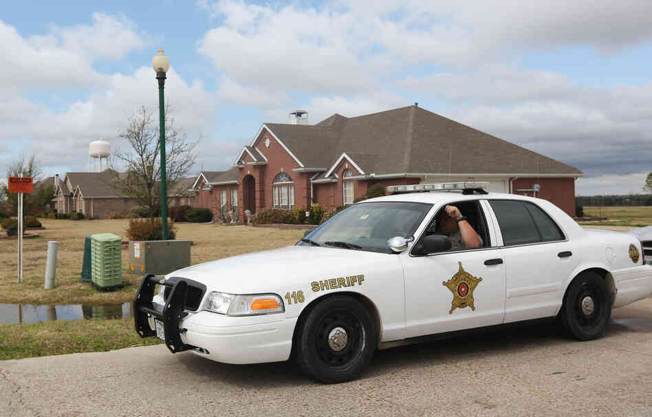 In Forney, Texas, Kaufman County Sheriff's deputies are on the lookout after the killings of Kaufman County District Attorney Mike McLelland and his wife in their Forney home.