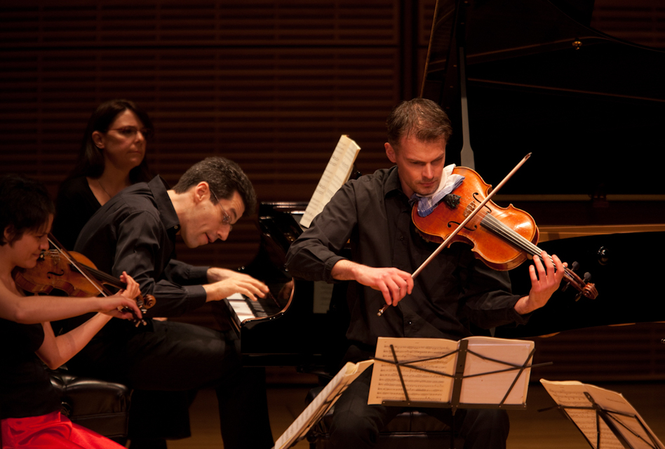 """Pianist Jonathan Biss and members of the Elias String Quartet have embarked on a season-long immersion into the music of Robert Schumann. """"Each of the many programs the project encompasses will feature not only Schumann's music but the music that shaped him, and the incredibly wide swath of music that owes a debt to him,"""" Biss says. (For NPR)"""