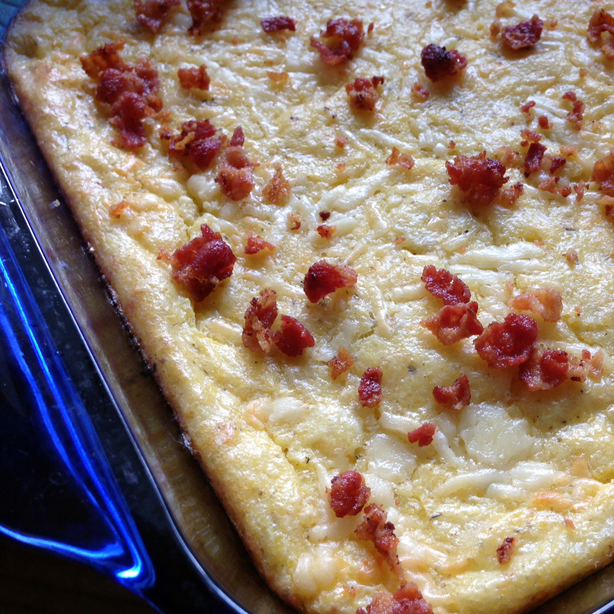 Recipe: Bacon And Cheddar Cheese Grits Casserole