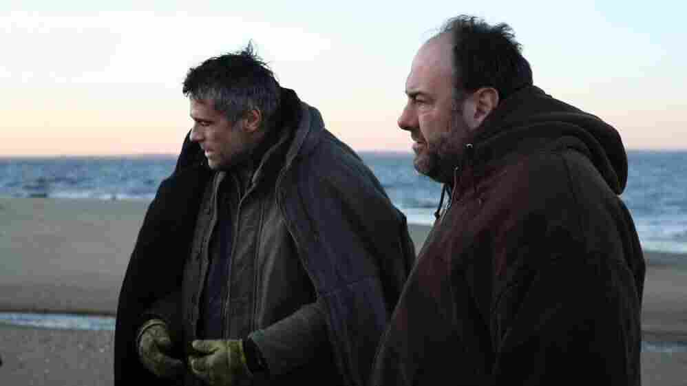 The mysterious Jacques (Edoardo Costa, left) upends Bailey's (James Gandolfini) life when he arrives in the latter's seaside New Jersey town in Down the Shore.
