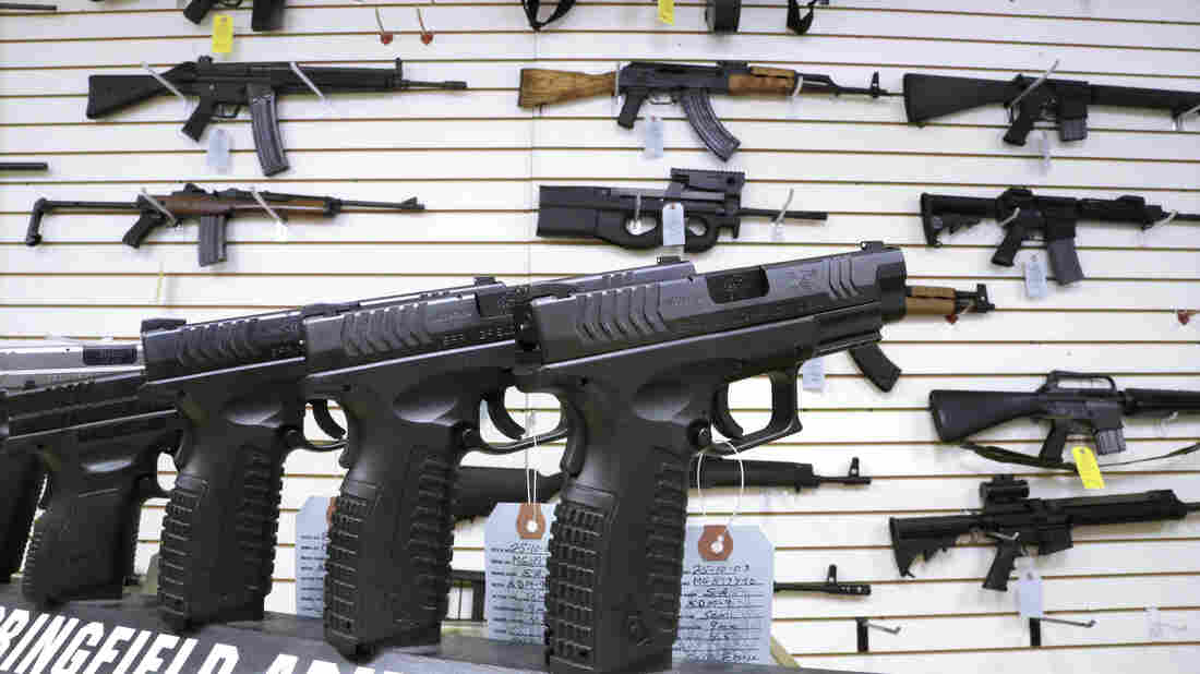 Assault weapons and handguns for sale at Capitol City Arms Supply in Springfield, Ill., on Jan. 16. Congress has yet to vote on legislative efforts to enact new gun control laws, nearly four months after the Newtown, Conn., school shootings.