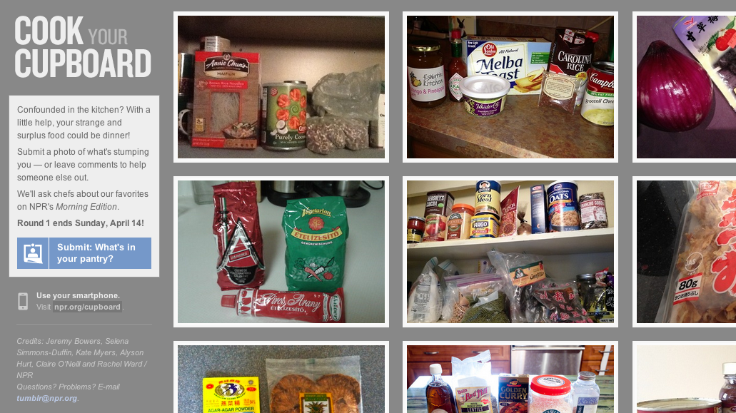 NPR's new community cooking series, Cook Your Cupboard