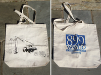 "WWNO ""Makin' Groceries"" Tote Bag: In 2007, Member Station WWNO helped listeners show off their city pride by placing the popular New Orleans saying, ""Makin' Groceries,"" on a tote bag. The NOLA jargon for food shopping was displayed with a literal interpretation of the phrase, created by local design artist, Blake Haney."