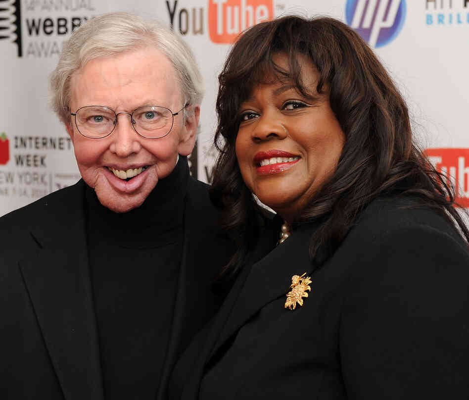 Film critc Roger Ebert and wife Chaz Ebert attend the 14th Annual Webby Awards at Cipriani, W