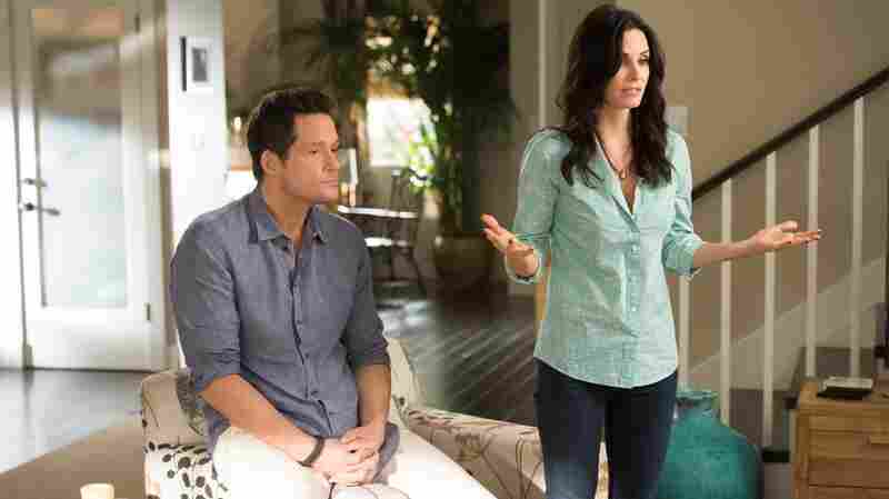 The programming convergence between cable and broadcast networks may have already begun, with shows like Cougar Town jumping ship from ABC to TBS. (Pictured: Josh Hopkins and Courteney Cox)