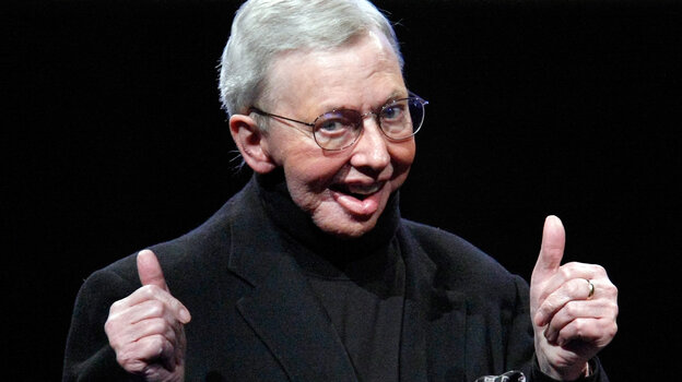 Film critic Roger Ebert, seen here in 2009, died Thursday.