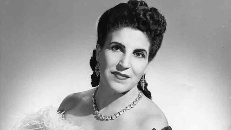Soprano Licia Albanese in an undated photo, posing as Violetta in Verdi's La traviata.