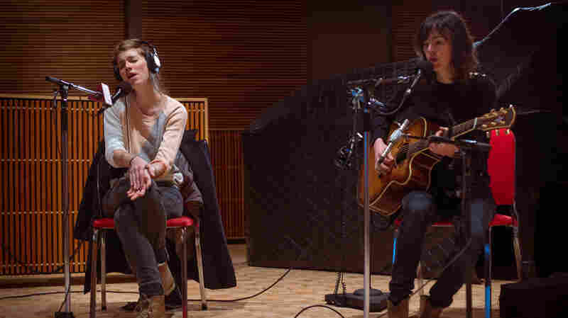 Boy's Valeska Steiner (left) and Sonja Glass perform on The Current.