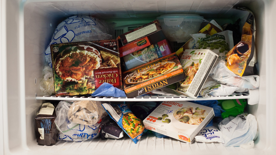 The NPR Science Desk freezer: now we know we can't presume it's germ-free.
