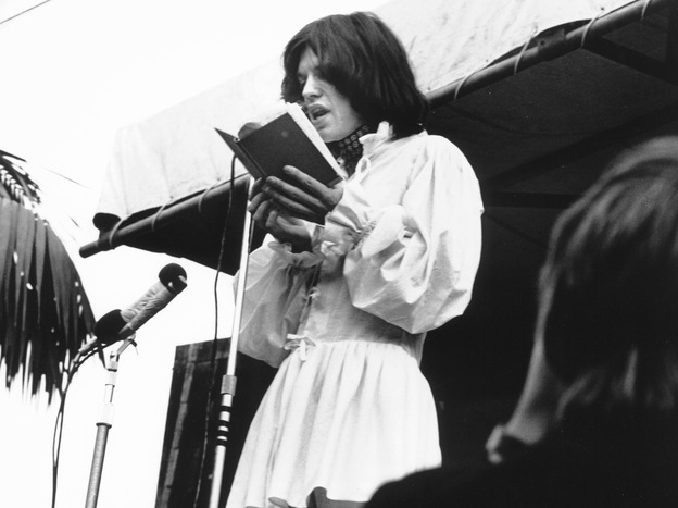 Standing before a crowd 250,000 strong, Mick Jagger opened The Rolling Stones' 1969 concert at London's Hyde Park by reading a Percy Bysshe Shelley poem in tribute to late guitarist Brian Jones.