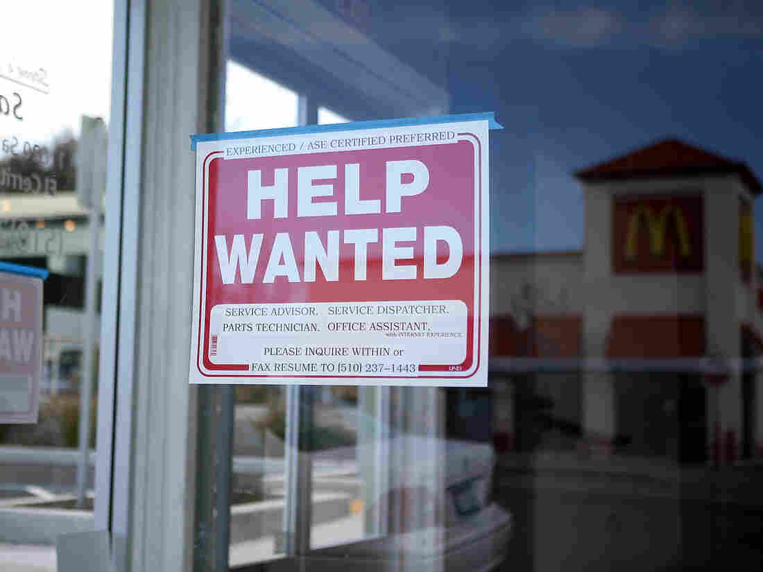 Will there be more signs like this? An automotive service shop in El Cerrito, Calif., was looking for workers last month.