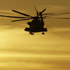 Silhouette of a helicopter