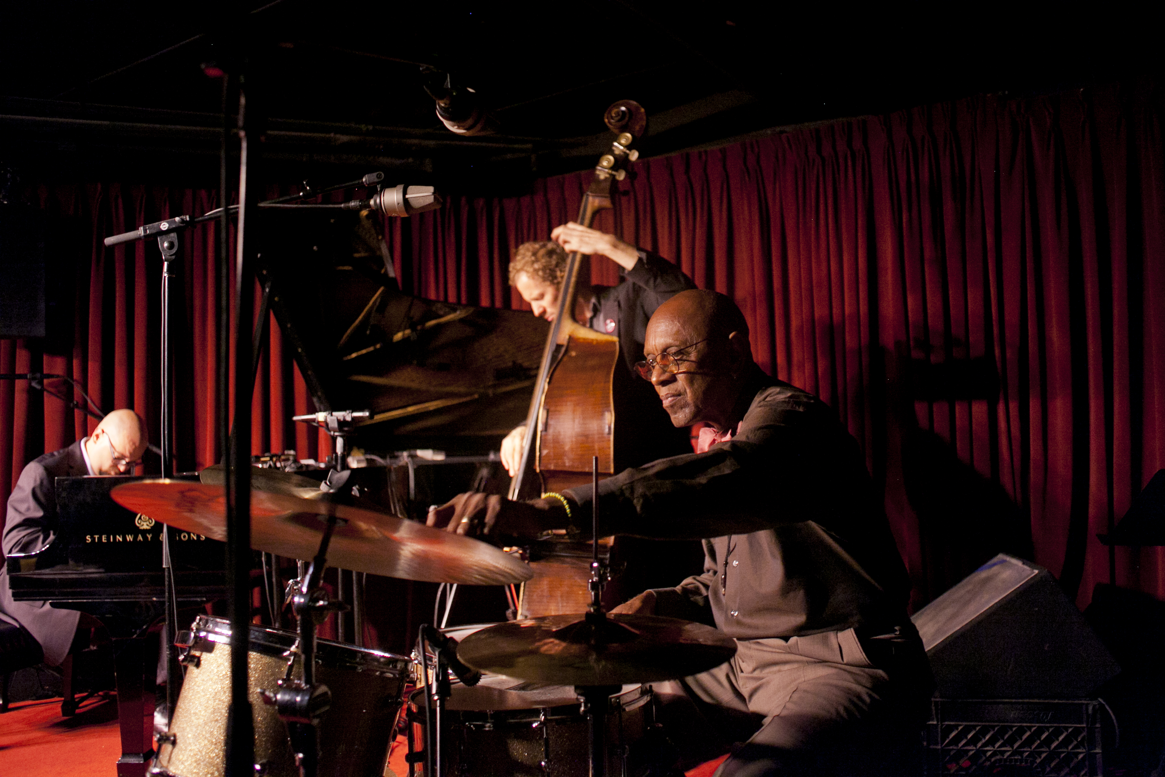 "Drummer Albert ""Tootie"" Heath leads a trio with pianist Ethan Iverson (left) and bassist Ben Street at the Village Vanguard."