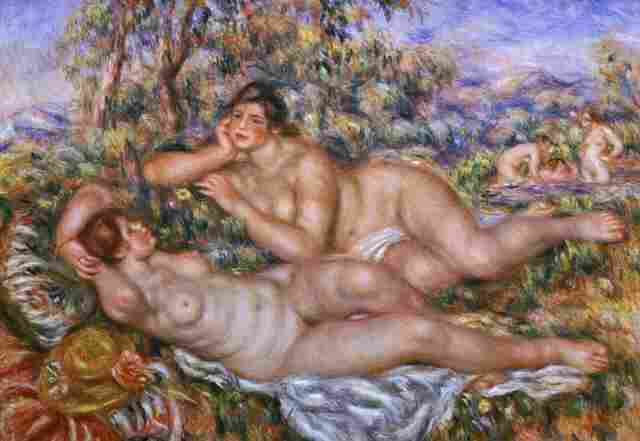 Renoir's The Bathers (Bathing Women) also used Andree Heuschling as inspiration. Critics say the young model gave the aging artist a needed boost of inspiration during his final years.