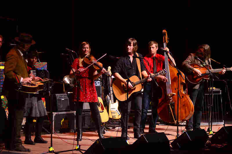 Rhett Miller performs with Black Prairie on Mountain Stage.