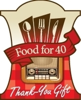 "WPR ""Food for 40"": Wisconsin Public Radio has shown thanks by paying it forward since 2010. Listeners can request that instead of a gift, WPR gives a Wisconsin food bank $8, which covers approximately 40 meals. Through their donations, WPR listeners have provided approximately 246,080 meals to those in need."