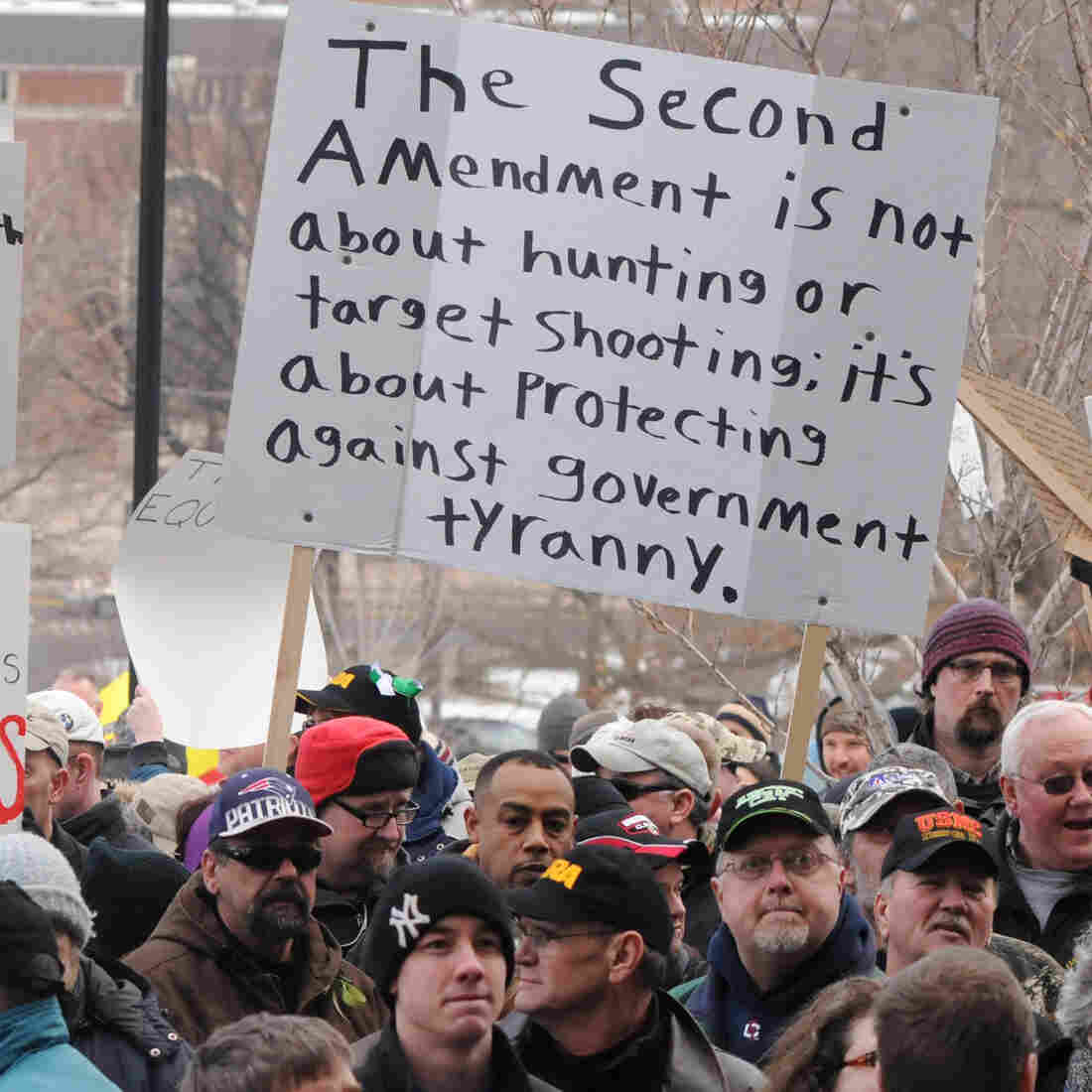 Some Gun Control Opponents Cite Fear Of Government Tyranny