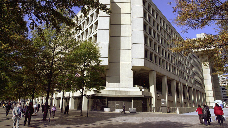 This photo of the J. Edgar Hoover Building was taken in November 2001. After the Sept. 11 attacks, the FBI stopped offering tours of its headquarters. (AFP/Getty Images)