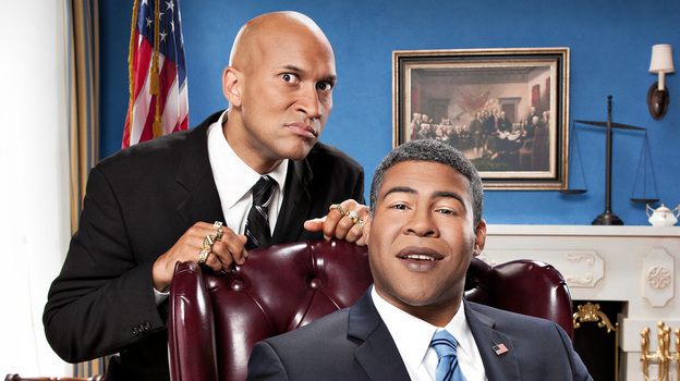 Comedy Central's sketch comedy duo Keegan-Michael Key and Jordan Peele have frequently referenced code-switching in their humor. (Comedy Central/AP)