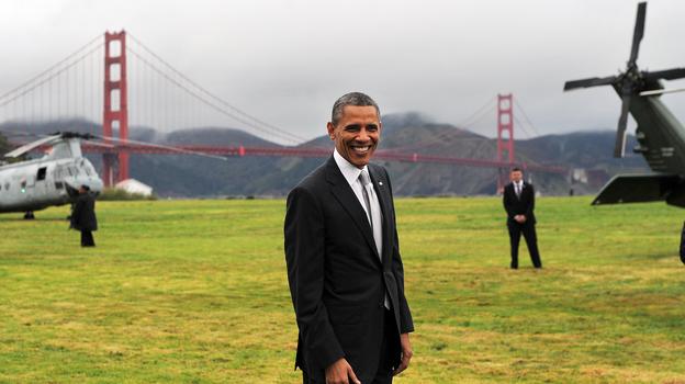 President Obama prepares to depart San Francisco on Thursday. (AFP/Getty Images)