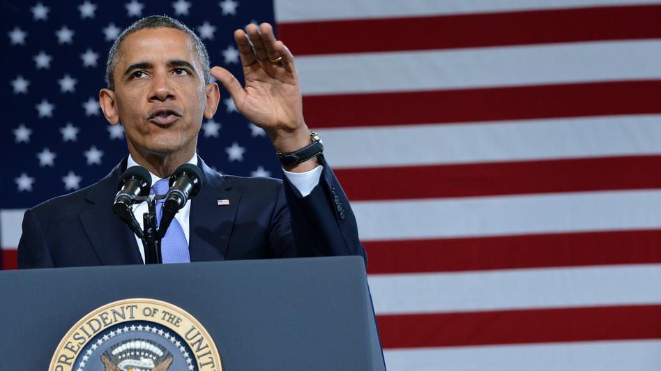 President Obama in Denver on Wednesday. (AFP/Getty Images)