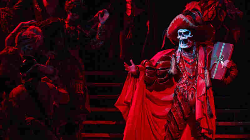 Hugh Panaro plays the title character — here done up as The Red Death for the show's spectacular masked-ball scene — in The Phantom of the Opera, Broadway's longest-running show. Twenty-two years ago, Panaro made his debut with the show as Raoul, the male romantic lead.