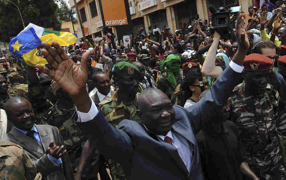 Michel Djotodia, the rebel leader who declared himself president of the Central African Republic, arrives on Republic Plaza in Bangui, the capital city, on March 30.