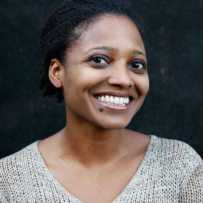 Tracy K. Smith poses for a portrait outside of NPR headquarters in Washington, D.C., on Friday.