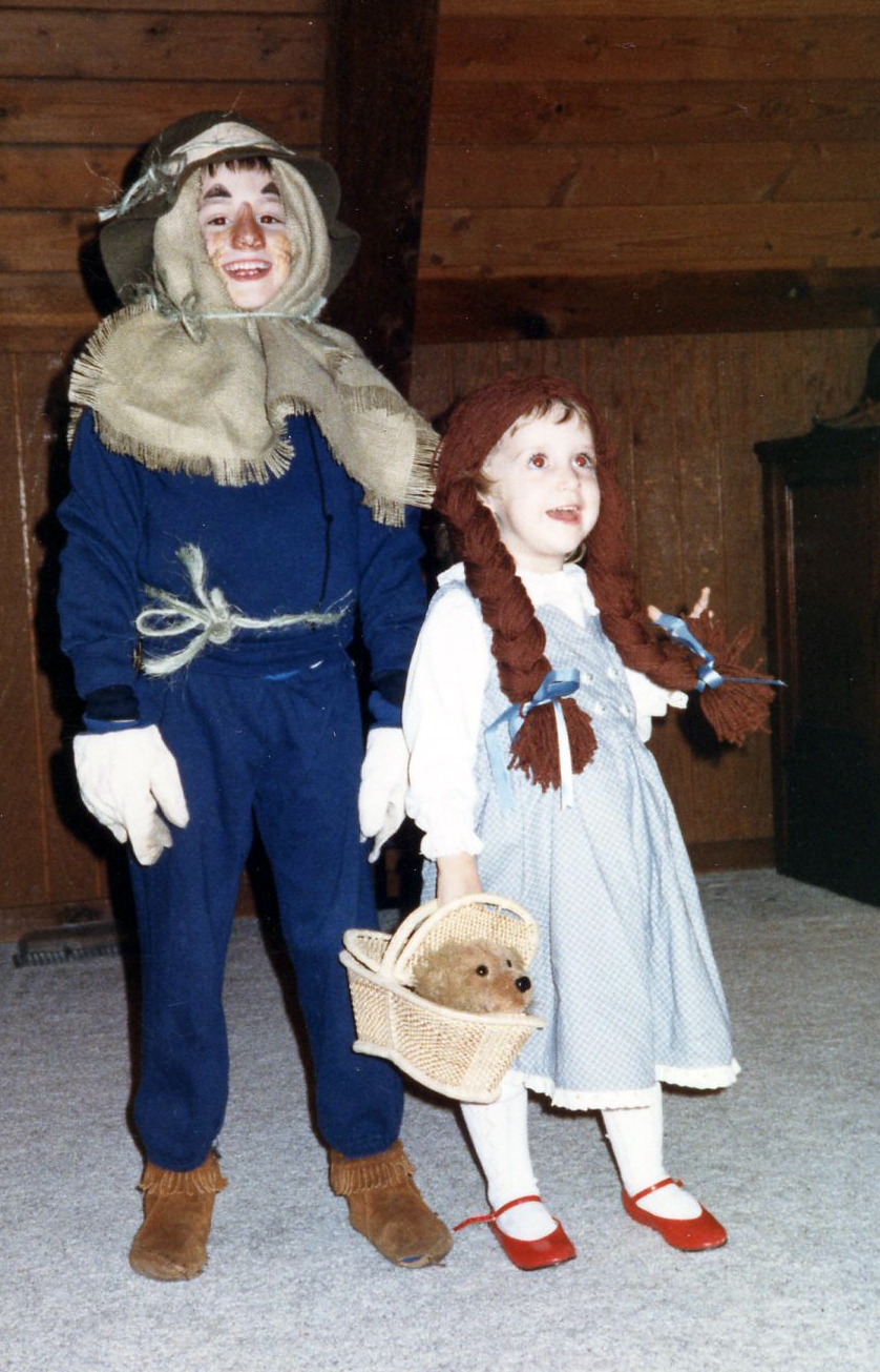 """I was Dorothy every year for Halloween as long as I can remember. This was the year I made my brother join in the fun as well."" -- Hannah Kinsley"