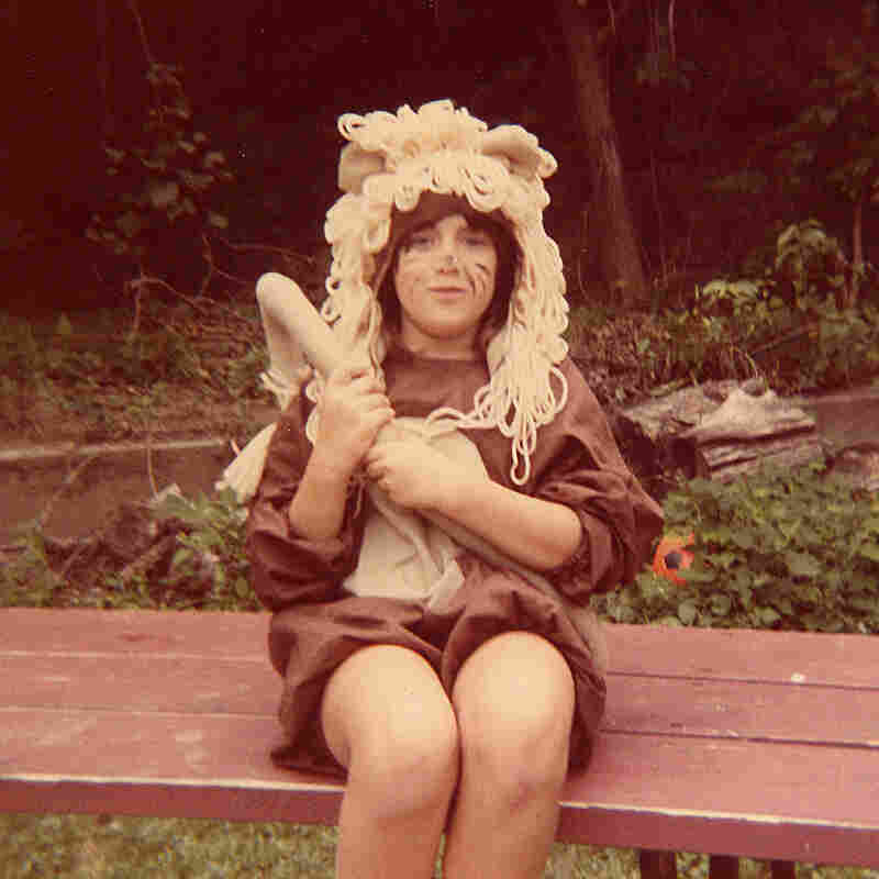 """My name is Jenny Barker Devine and I grew up in Council Bluffs, Iowa. We had the perfect back porch for staging productions. Over the years we did such classics as Lady and the Tramp and The Wizard of Oz. This is my sister, Karen Barker Crowley, as the Cowardly Lion, ca. 1985."" — Jenny Barker Devine"