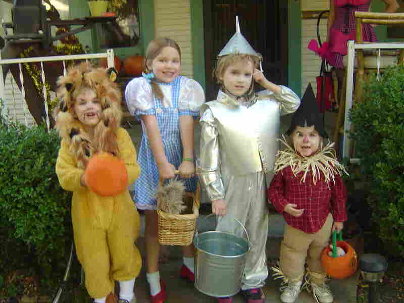 """""""My four oldest grandchildren, the Weitzes of Oz, on Halloween 2006 in Stockton, Calif. These costumes were a collaboration by me and their paternal grandmother. They were actually the second generation of Wizard of Oz trick-or-treaters. Their mom, aunt and two friends did it first in 1984."""" — Ava Simpson"""