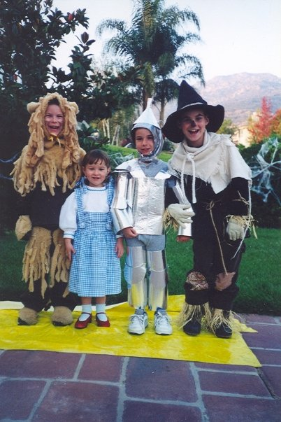 """It all started with a hand-me-down Dorothy costume for our baby sister. Mom got crazed with making the costumes as authentic as possible. The Tin Man had moving joints, Scarecrow was itchy from all the straw, and the Lion was hot and sweaty under all that fake fur!"" -- Eyde Reilly, 50, Southern California"