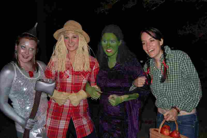 """At 15, my friends and I joked about dressing up as characters from The Wizard of Oz. Ten years later, we actually did it! Left to right: Holland, Briana (that's me!), Beth, and Bree in College Station, Texas."" — submitted by brimorrison"