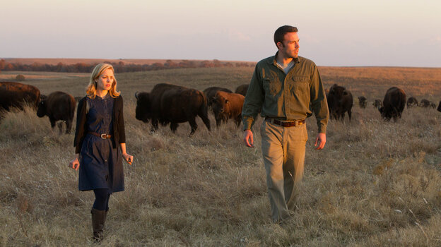 Jane (Rachel McAdams) rekindles an old affair with the taciturn Neil (Ben Affleck), an environmental investigator whose work takes him to a remote Oklahoma town in the enigmatic new film To the Wonder.