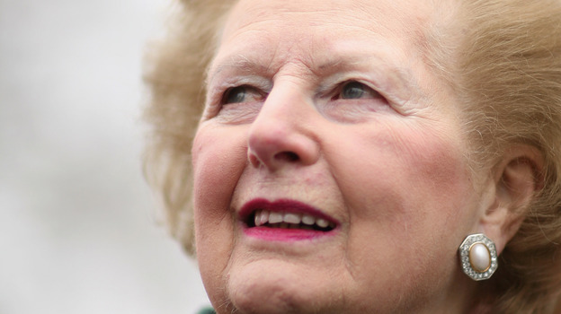 Baroness Margaret Thatcher, former British prime minister, in February 2008 in London. (Getty Images)