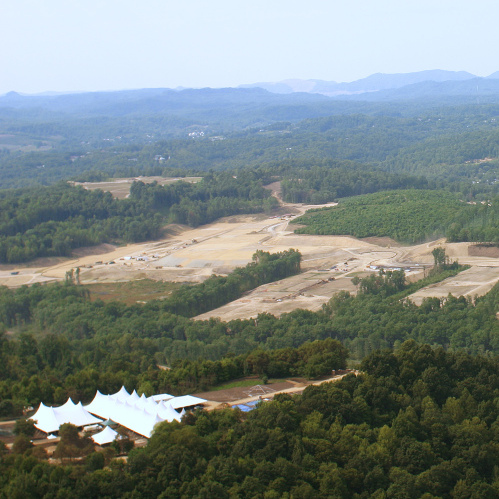 The Summit Bechtel Family National Scout Reserve while under construction in 2011. The camp will open in July 2013 with the National Scout Jamboree.