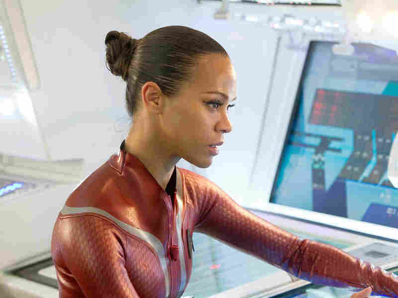 The 'Star Trek' actress had to be talked into the role of Lt. Uhura in the franchise's big screen reboot by her mother and friends. The original Lt. Uhura was urged to not quit by Martin Luther King.