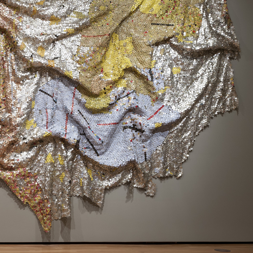 Gravity and Grace by El Anatsui, 2010.