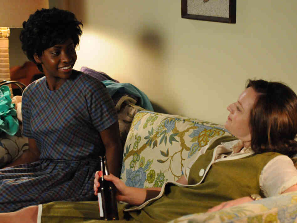 "Dawn Chambers (Teyonah Parris) and Peggy Olson (Elisabeth Moss) in an episode from last season's ""Mad Men."""