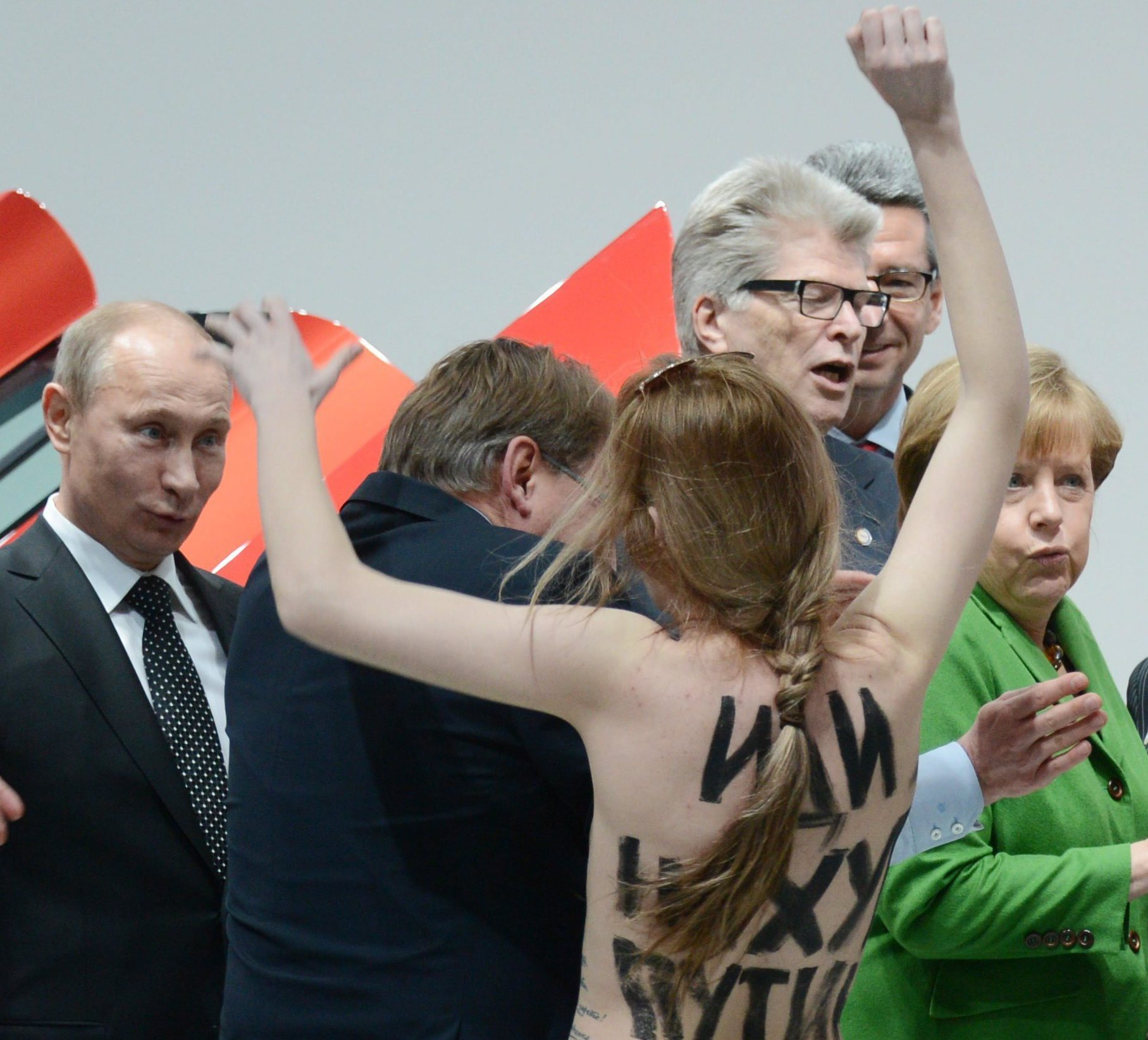 'I Liked It,' Putin Says Of Protest By Topless Women