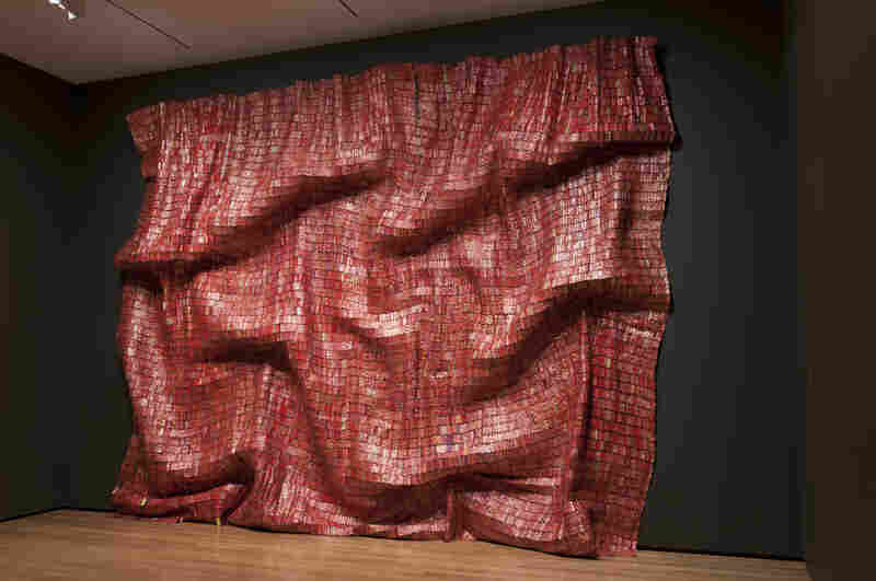 El Anatsui's Red Block (2010) explores the monumentality of a single color, suggestive of paintings by Mark Rothko or Gerhard Richter.