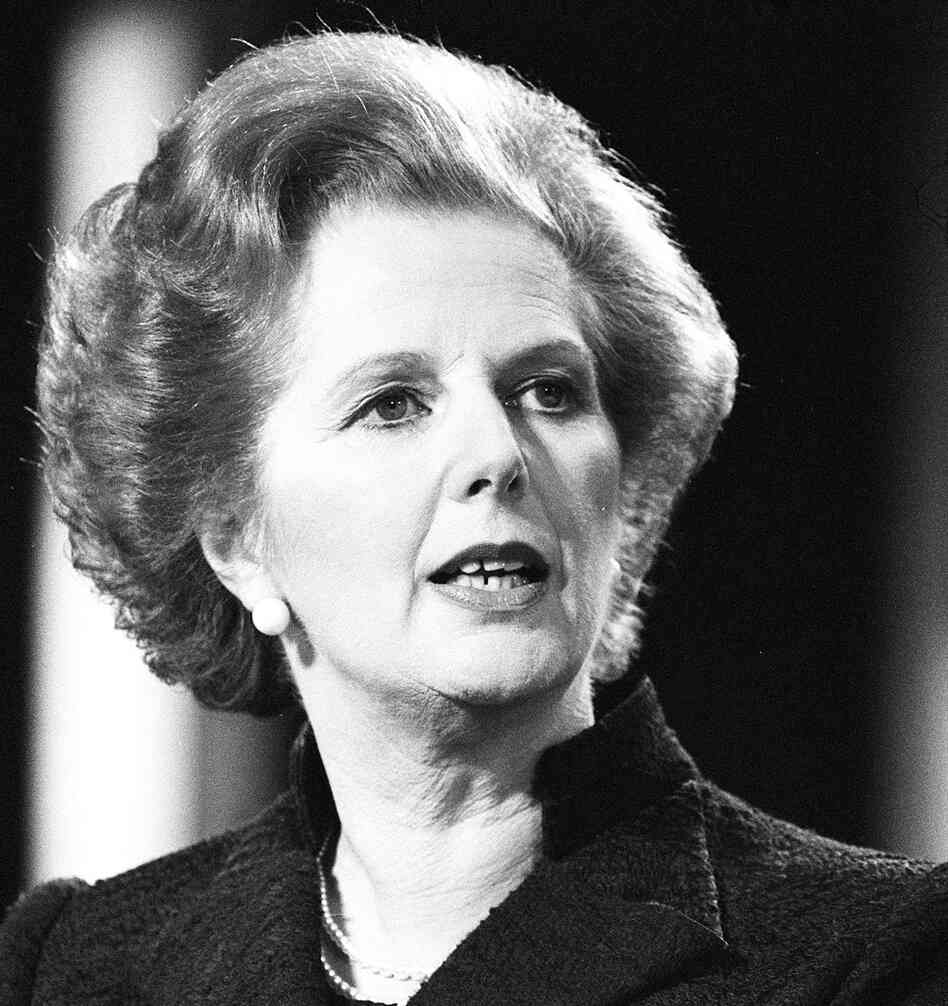 hide caption Prime Minister Margaret Thatcher in 1981. She died Monday ...