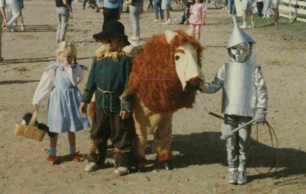 """We were our mother's guinea pigs for the yearly county fair costume class. At the time, we hated it. But to her credit, we won the trophy every time."" — submitted by equestrianshaming"