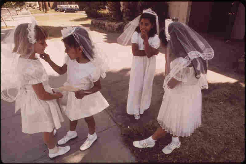 First Communion at St. Joan of Arc church, May 1972.