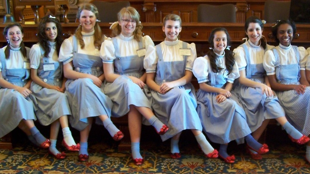Middle and high school girls participate in the Dorothy's House and Land of Oz program in Liberal, Kan.