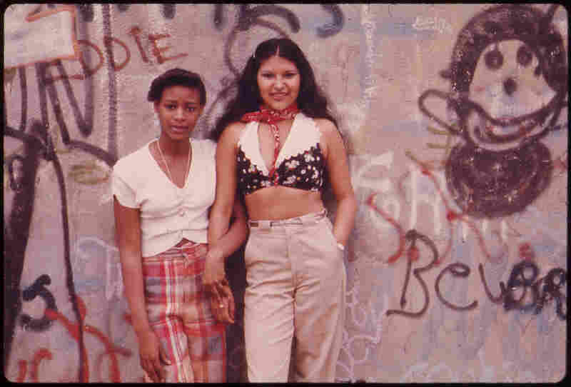 Girls in Lynch Park, Brooklyn, N.Y., 1974.