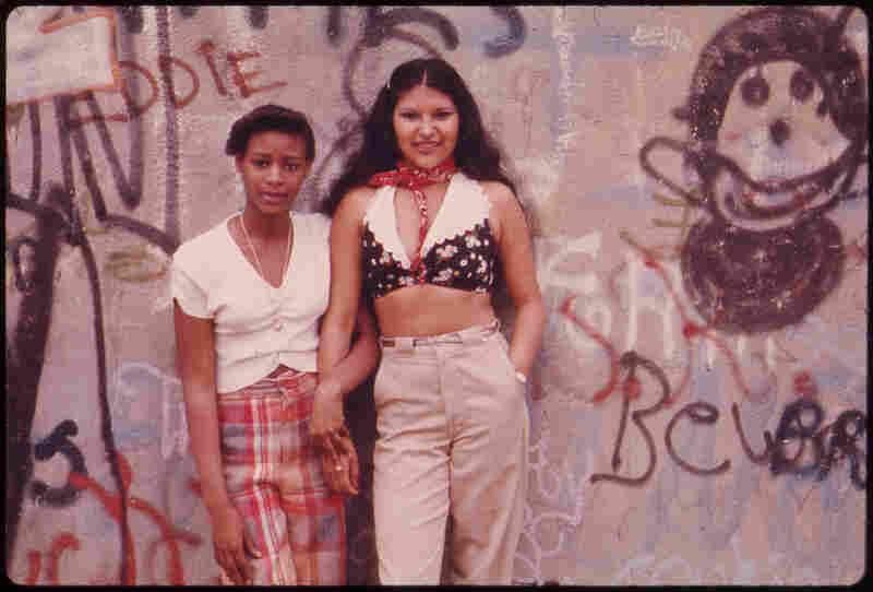 Girls in Lynch Park, Brooklyn, N.Y., 1974.