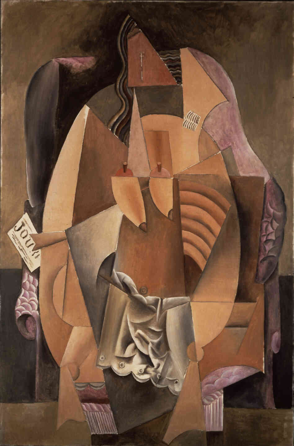 Pablo Picasso's Femme assise dans un fauteuil (Eva) (Woman in an Armchair) 1913.Oil on canvas.