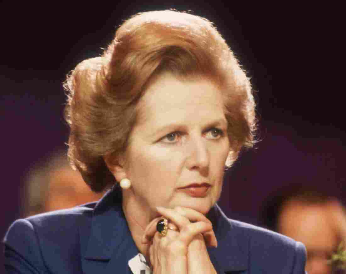 Britain's then-Prime Minister Margaret Thatcher at the Tory Party Conference in Blackpool, England, in 1981.